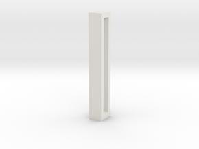 Choker Slide Letters (4cm) - Letter I in White Natural Versatile Plastic