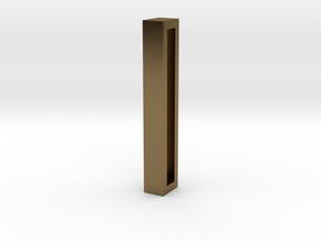 Choker Slide Letters (4cm) - Letter I in Polished Bronze