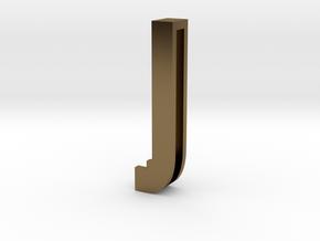 Choker Slide Letters (4cm) - Letter J in Polished Bronze