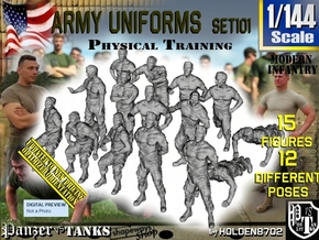 1/144 Modern Uniforms Ph Tr Set101 in Smooth Fine Detail Plastic