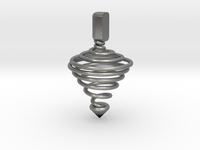 Functional Spinning top  in Natural Silver