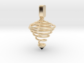 Functional Spinning top  in 14k Gold Plated Brass