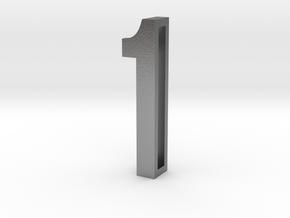 Choker Slide Letters (4cm) - Number 1 in Natural Silver