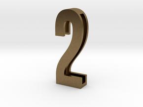 Choker Slide Letters (4cm) - Number 2 in Natural Bronze