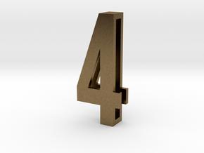 Choker Slide Letters (4cm) - Number 4 in Natural Bronze