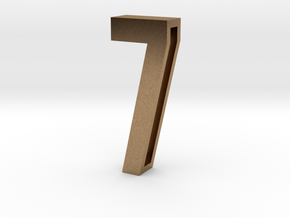 Choker Slide Letters (4cm) - Number 7 in Natural Brass