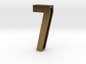 Choker Slide Letters (4cm) - Number 7 in Natural Bronze