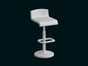 1:10 Scale Model - BarChair 01 in White Natural Versatile Plastic
