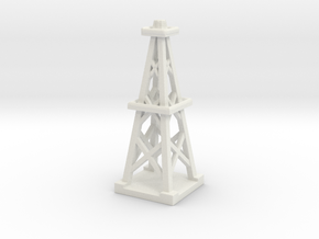 Oil Derrick  in White Natural Versatile Plastic