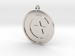 Star & Crescent Pendant in Rhodium Plated Brass