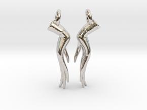 Varada Mudra Earrings  in Rhodium Plated Brass