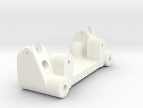 NIX72071 - Bulkhead for RC10T nose in White Processed Versatile Plastic