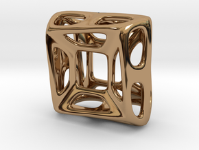 Nest ::: Square Pendant ::: v.01 in Polished Brass