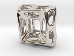 Nest ::: Square Pendant ::: v.01 in Rhodium Plated Brass