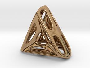 Nest ::: Triangle Pendant ::: v.01 in Polished Brass