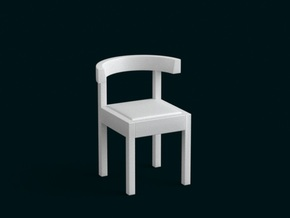 1:10 Scale Model - Chair 04 in White Natural Versatile Plastic