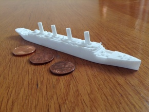 Titanic 1:1800 in White Natural Versatile Plastic