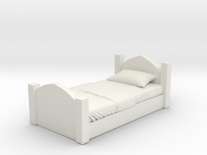 Printle Thing Bed 02 - 1/24 in White Natural Versatile Plastic