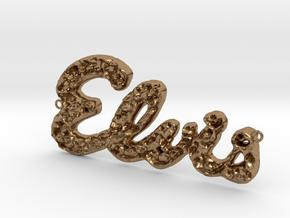 Elvis Necklace in Natural Brass