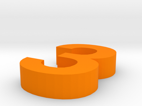 3 in Orange Processed Versatile Plastic
