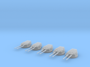 1/600 HMS Dreadnought 12 inch /45 Turrets SET in Smooth Fine Detail Plastic
