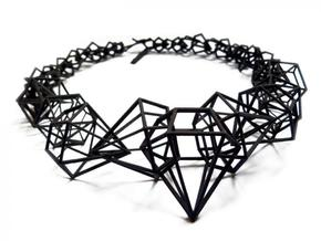 Stereodiamond Necklace in Black Strong & Flexible