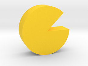 Cheese Wheel Game Piece in Yellow Processed Versatile Plastic