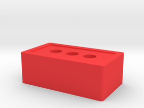 Detailed Brick Game Piece in Red Processed Versatile Plastic
