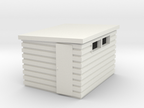 Garden Shed (Pent Roof) in White Natural Versatile Plastic