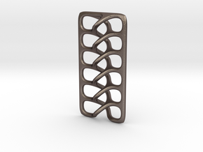Intertwine pendant in Polished Bronzed Silver Steel