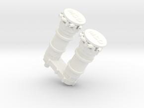 AJPE 1/8  Dual Magneto in White Processed Versatile Plastic