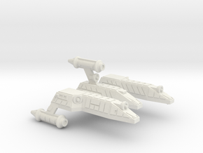 3125 Scale Lyran Serval War Cruiser Scout CVN in White Natural Versatile Plastic