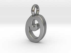 O - Pendant 2mm thk. in Natural Silver