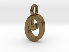 O - Pendant 2mm thk. in Natural Bronze