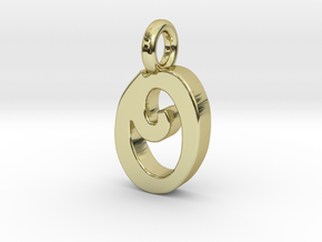 O - Pendant 2mm thk. in 18k Gold Plated