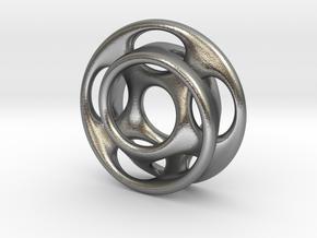10 holes - interlocked moebius in Natural Silver