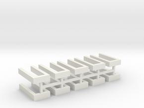 Hecke offen für Grabeinfassungen 10erSet 1:120 in White Natural Versatile Plastic