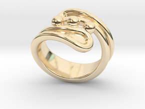 Threebubblesring 22 - Italian Size 22 in 14K Yellow Gold