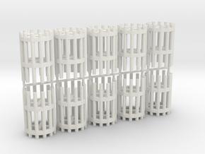 Duckdalben 12er rund mit Innenstreben 10erSet 1:12 in White Natural Versatile Plastic