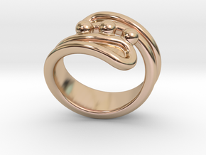 Threebubblesring 23 - Italian Size 23 in 14k Rose Gold Plated Brass