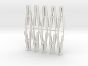 Duckdalben 4er rund 10erSet 1:120 in White Natural Versatile Plastic