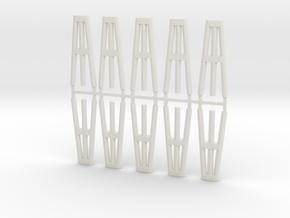 Duckdalben 3er rund 10erSet 1:120 in White Natural Versatile Plastic