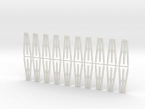 Duckdalben 3er rund 20erSet 1:120 in White Natural Versatile Plastic