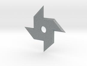 Stubby Ninja Star in Polished Metallic Plastic