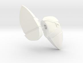 Meta Knight Boots in White Processed Versatile Plastic
