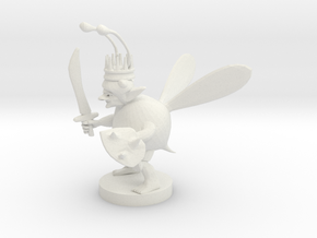 Goblin Bard Bee King in White Natural Versatile Plastic