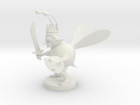 Goblin Bard Bee King in White Natural Versatile Plastic