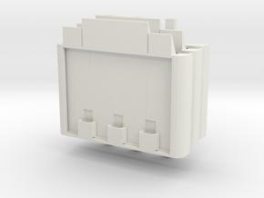 Miniature Floating Pontoon Bridge - Standard Pack in White Natural Versatile Plastic: 1:144