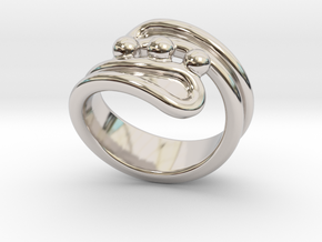 Threebubblesring 27 - Italian Size 27 in Platinum