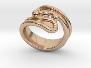 Threebubblesring 27 - Italian Size 27 in 14k Rose Gold Plated Brass